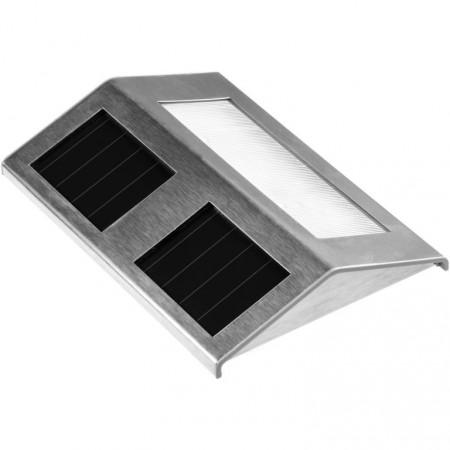 Solární osvětlení schodů a chodníků, nerezová ocel