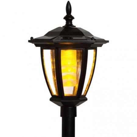 Elektrická svítící zahradní lucerna, solární napájení