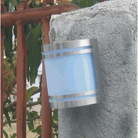 Venkovní nástěnná lampa, nerezová ocel, solární napájení