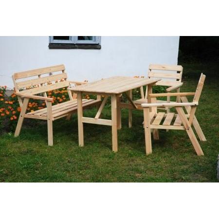 Levná sestava zahradního dřevěného nábytku 4 ks