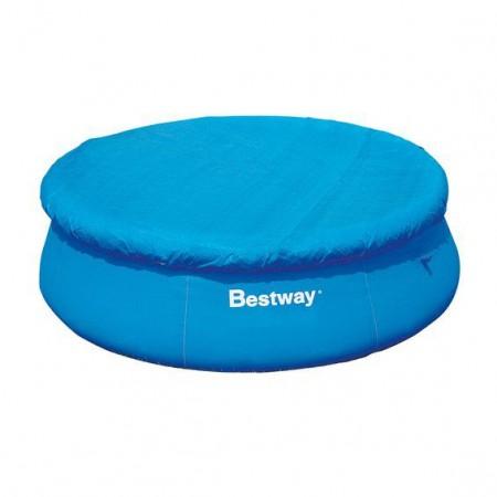 Krycí plachta pro kulaté bazény, průměr 244 cm, modrá