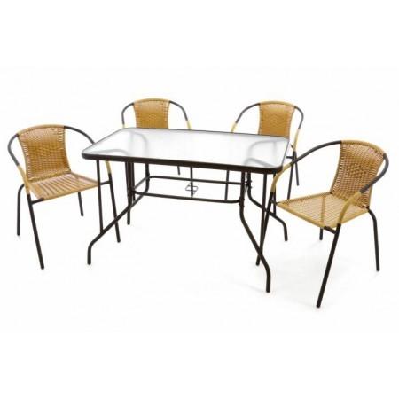 Levná zahradní / terasová sestava nábytku, křesla + stůl