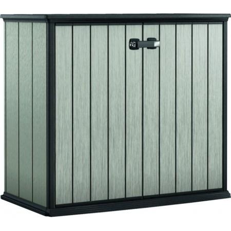Plastová venkovní skříňka na nářadí 120x140x77 cm