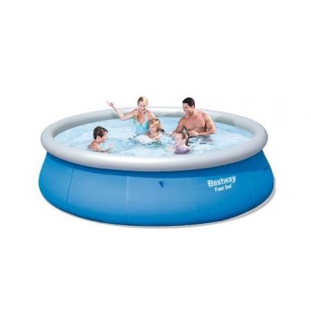 Zahradní bazén s nafukovacím kruhem 396 x 84 cm