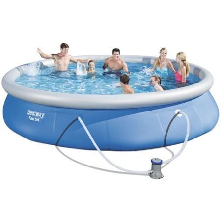 Zahradní bazén s nafukovacím kruhem 457 x 84 cm, vč. filtrace