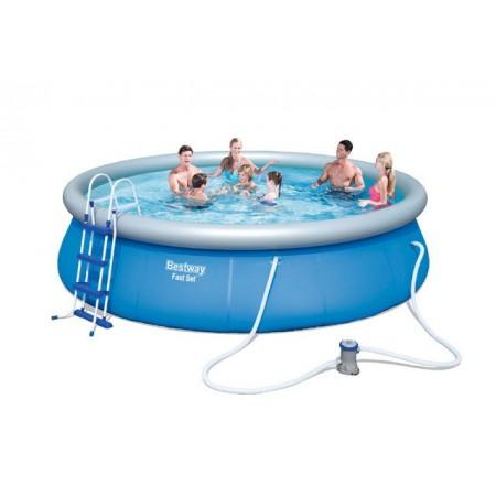 Zahradní bazén s nafukovacím kruhem 457 x 107 cm+filtrace+schůdky