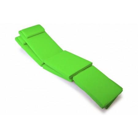 2 ks polstrování na lehátka, snímatelný potah, světle zelená