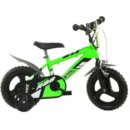 Dětské kolo 12, vzhled horského kola, postranní kolečka, zelené