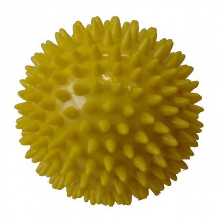 Masážní míček- ježek, průměr 7,5 cm, žlutý