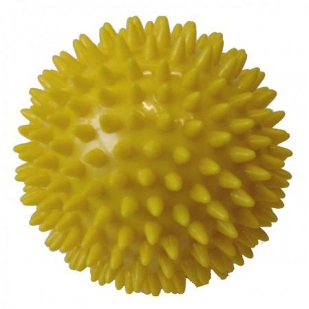 Masážní míček- ježek, průměr 9 cm, žlutý