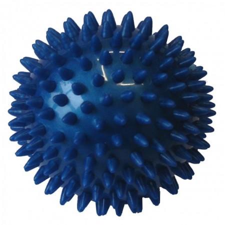 Masážní míček- ježek, průměr 9 cm, modrý