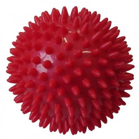 Masážní míček- ježek, průměr 9 cm, červený