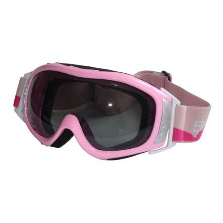 Dámské lyžařské brýle, úprava proti mlžení, UV filtr, růžové