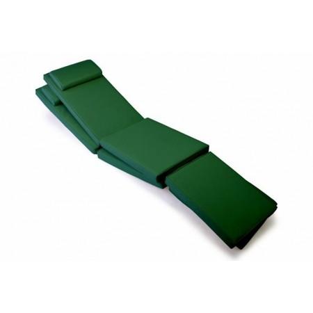 2 ks polstrování na lehátka, snímatelný potah, tmavě zelená
