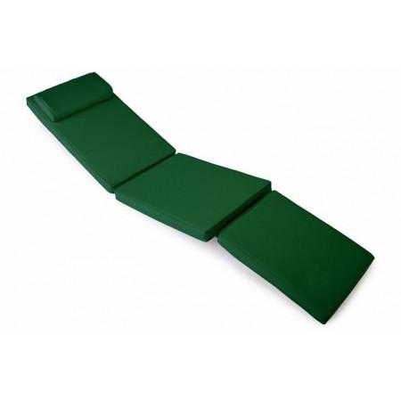 Polstrování na lehátka, snímatelný potah, tmavě zelené