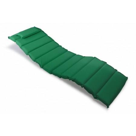 Vysoké polstrování na lehátko, s  polštářkem, tmavě zelené