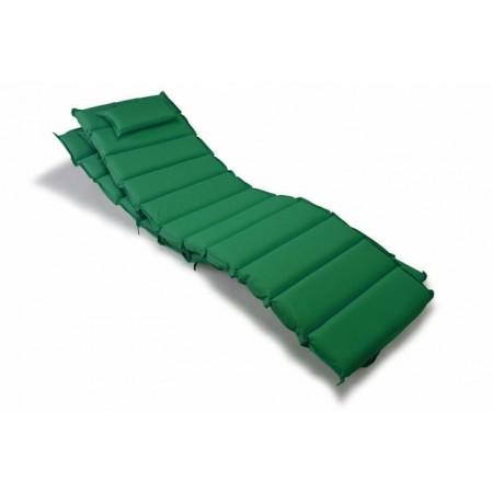 2 ks vysoké polstrování na lehátko, s  polštářkem, tmavě zelené