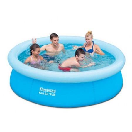 Zahradní bazén s nafukovacím kruhem 198x51cm