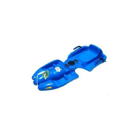 Dětské plastové boby s kloubem, modré
