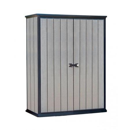 Plastová skříňka na zahradu, šedá, 182x140x77 cm