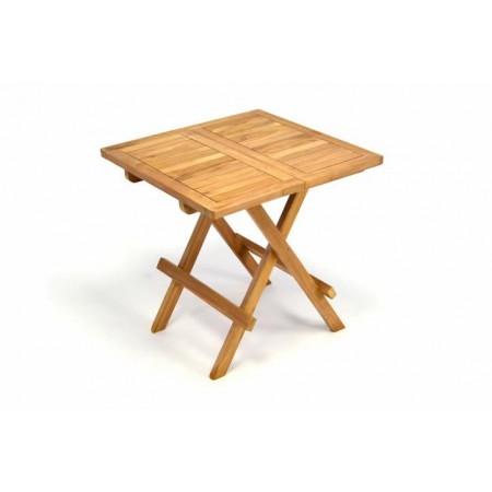 Skládací dřevěný stolek z masivu, 50x50 cm, teakové dřevo