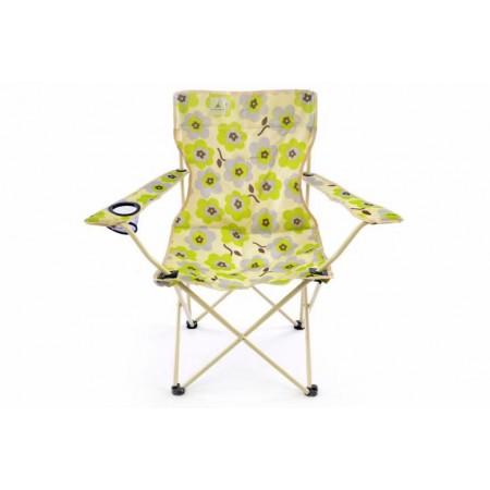 2 ks barevná skládací textilní židle, potisk květin