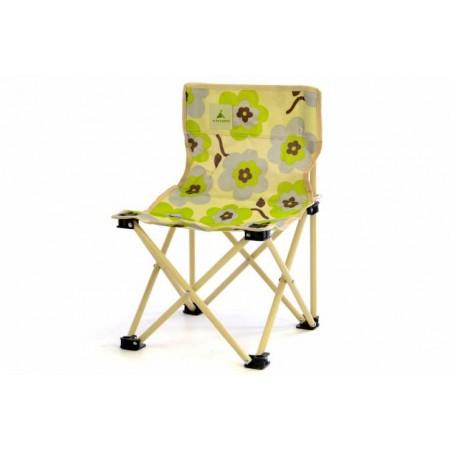 Dětská textilní skládací židle, vzor květin