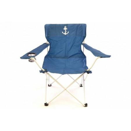 Skládací kempinková židle s taškou, modrá