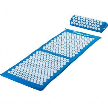 Akumpresurní podložka / lehátko vč. polštářku, 130 x 50 cm, modrá