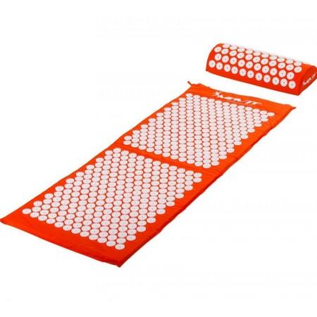 Akumpresurní podložka / lehátko vč. polštářku, 130 x 50 cm, oranžová