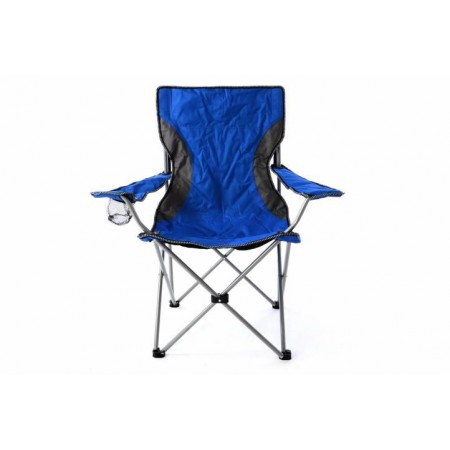 Přenosná skládací židle s taškou, modrá / šedá
