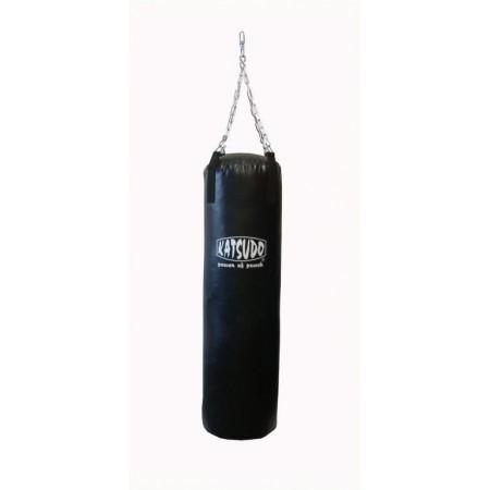 Větší boxovací pytel 1,5 m, 38 kg, látková střiž, černý