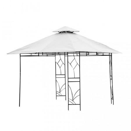 Čtvercový zahradní altán s okrasnými prvky 3x3 m