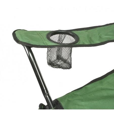 Skládací kempinková židle s područkami, tmavě zelená