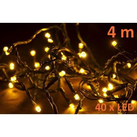 Vánoční řetěz - dekorace do bytu, teple bílá, 40 LED