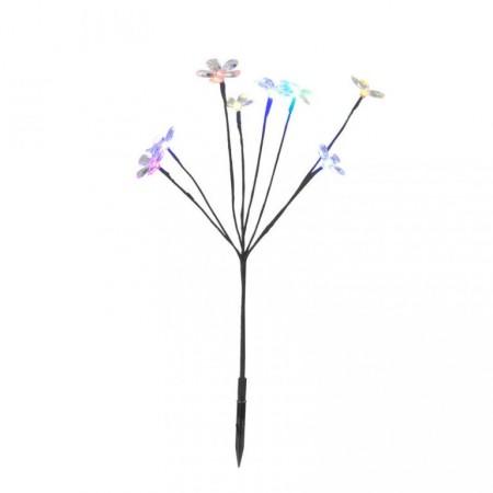 Solární osvětlení na zahradu- umělá květina 52,5 cm, barevná