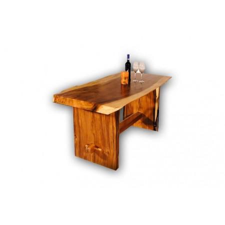 Luxusní masivní interiérový stůl, 100 kg, mungurové dřevo