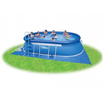 Velký rodinný bazén, oválný, s filtrací, 3,05x5,49x1,07 m