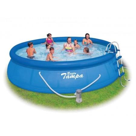 Velký rodinný kruhový bazén samostavěcí, 4,57x1,22 m