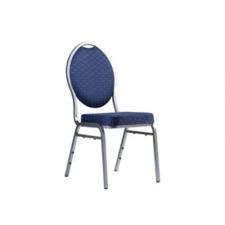 Pevná kovová stohovatelná židle Monza, tmavě modrá