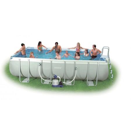 Velký obdélníkový nadzemní bazén 2,74x5,49x1,32 m + filtrace