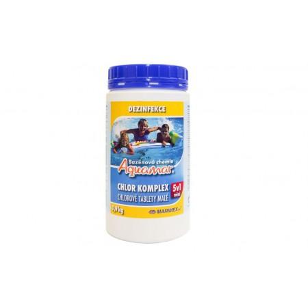 Multifunkční chlorové tablety 5v1 do bazénu, 0,9 kg