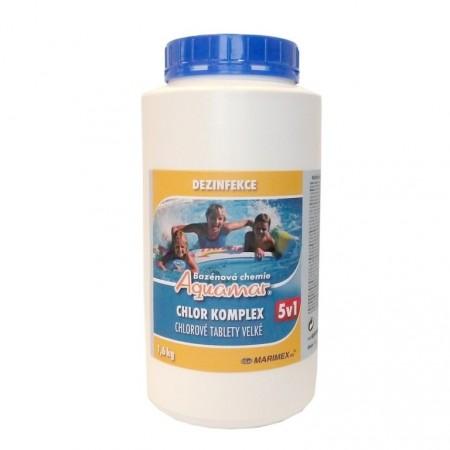 Multifunkční chlorové tablety 5v1 do bazénu, 1,6 kg