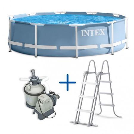 Velký nadzemní bazén 3,66x0,99 m + písková filtrace