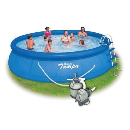 Kulatý bazén s nafukovacím kruhem 4,57x1,22 m, písková filtrace, schůdky