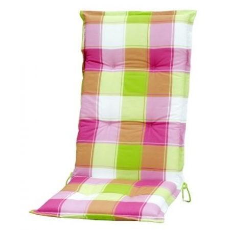 Barevný polstr na zahradní židle s vysokým opěradlem