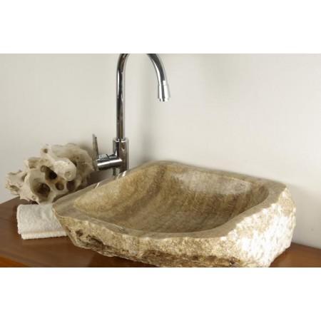 Designové umyvadlo do koupelny, nepravidelný tvar, krémové