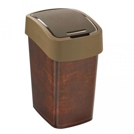 Designový odpadkový koš, imitace kůže, 25 l