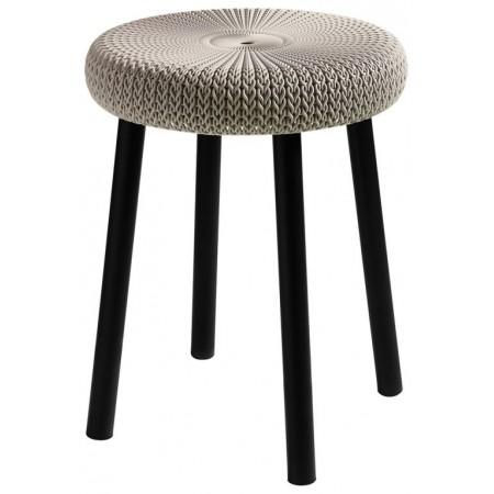 Designová stolička, háčkovaný vzor, interiér / exteriér