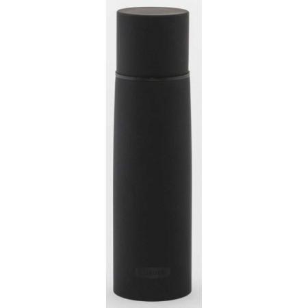Nerezová termoska 0,5 l, s hrníčkem, černá matná